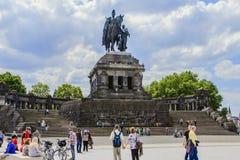 το μνημείο Koblenz Στοκ φωτογραφία με δικαίωμα ελεύθερης χρήσης