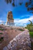 Το μνημείο Philopappos είναι μαυσωλείο και μνημείο αρχαίου Έλληνα Στοκ εικόνα με δικαίωμα ελεύθερης χρήσης