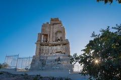 Το μνημείο Philpappos, ένα μαυσωλείο αρχαίου Έλληνα αφιέρωσε σε Philopappus έναν πρίγκηπα από το βασίλειο Commagene Αυτό Στοκ εικόνα με δικαίωμα ελεύθερης χρήσης