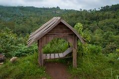 Το μοναδικό Gazebo στους λόφους Menoreh, Ινδονησία στοκ φωτογραφίες με δικαίωμα ελεύθερης χρήσης