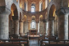 Το μοναδικό Romanesque παρεκκλησι του ST John ο Ευαγγελιστής μέσα στο άσπρο κτήριο πύργων στον πύργο του Λονδίνου, Αγγλία Στοκ φωτογραφία με δικαίωμα ελεύθερης χρήσης