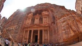 Το μοναστήρι αγγελία-Deir, αρχαία πόλη Petra, Ιορδανία Nabataean Αρχαίος ναός στη Petra Στοκ Φωτογραφίες