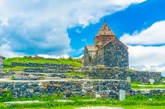 Το μοναστήρι στη χερσόνησο Sevan Στοκ Εικόνα