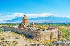 Το μοναστήρι στο Ararat τοποθετεί Στοκ Φωτογραφία