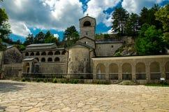 Το μοναστήρι Cetinje είναι ένα σερβικό ορθόδοξο μοναστήρι, Μαυροβούνιο στοκ εικόνα