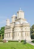Το μοναστήρι Curtea de Arges, Ορθόδοξη Εκκλησία, υπαίθριο προαύλιο Στοκ Εικόνες