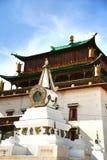 Το μοναστήρι Gandantegchinlen είναι ένα βουδιστικό μοναστήρι θιβετιανός-ύφους στο μογγολικό κεφάλαιο Ulaanbaatar, Μογγολία Στοκ Εικόνα
