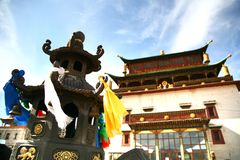 Το μοναστήρι Gandantegchinlen είναι ένα βουδιστικό μοναστήρι θιβετιανός-ύφους στο μογγολικό κεφάλαιο Ulaanbaatar, Μογγολία Στοκ εικόνες με δικαίωμα ελεύθερης χρήσης