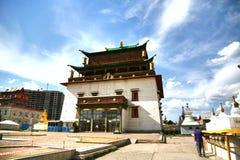 Το μοναστήρι Gandantegchinlen είναι ένα βουδιστικό μοναστήρι θιβετιανός-ύφους στο μογγολικό κεφάλαιο Ulaanbaatar, Μογγολία Στοκ Εικόνες