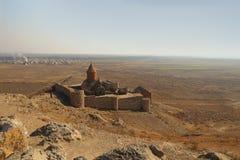 Το μοναστήρι Khor Virap, Αρμενία Στοκ Φωτογραφίες