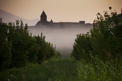 Το μοναστήρι Khor Virap το πρωί Στοκ Εικόνες