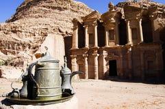 Το μοναστήρι - Petra - Ιορδανία Στοκ Φωτογραφία