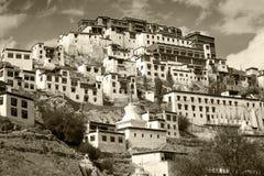 Το μοναστήρι Tiksey είναι ένα βουδιστικό μοναστήρι σε Ladakh, Ινδία, Στοκ Εικόνα