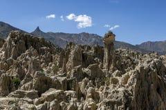 Το μοναδικό τοπίο της κοιλάδας φεγγαριών στο Λα Παζ, Βολιβία Στοκ φωτογραφία με δικαίωμα ελεύθερης χρήσης