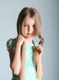 το μοντέλο κοριτσιών θέτε& Στοκ Εικόνες