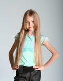 το μοντέλο κοριτσιών θέτε& Στοκ εικόνα με δικαίωμα ελεύθερης χρήσης