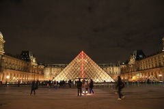 Το μουσείο ανοιγμάτων εξαερισμού τή νύχτα, Παρίσι, Γαλλία Στοκ φωτογραφία με δικαίωμα ελεύθερης χρήσης