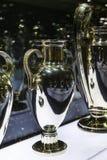 Το μουσείο της λέσχης ποδοσφαίρου της Real Madrid κοιλαίνει και απονέμει τη λέσχη στοκ εικόνες