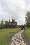 Το μουσείο της ξύλινης αρχιτεκτονικής σε suzdal, Ρωσική Ομοσπονδία Στοκ Φωτογραφία