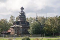 Το μουσείο της ξύλινης αρχιτεκτονικής σε suzdal, Ρωσική Ομοσπονδία Στοκ Εικόνα
