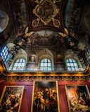 Το μουσείο του Λούβρου στο Παρίσι, Γαλλία στοκ εικόνες