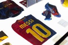 Το μουσείο των τροπαίων των φλυτζανιών και των βραβείων της ομάδας FC Βαρκελώνη του στρατόπεδου Nou Στοκ Εικόνες
