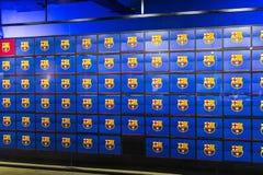 Το μουσείο των τροπαίων των φλυτζανιών και των βραβείων της ομάδας FC Βαρκελώνη του στρατόπεδου Nou Στοκ φωτογραφίες με δικαίωμα ελεύθερης χρήσης