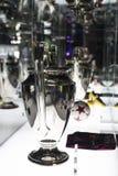 Το μουσείο των τροπαίων των φλυτζανιών και των βραβείων της ομάδας FC Βαρκελώνη του στρατόπεδου Nou Στοκ Εικόνα