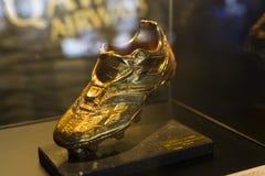 Το μουσείο των τροπαίων των φλυτζανιών και των βραβείων της ομάδας FC Βαρκελώνη του στρατόπεδου Nou Στοκ Φωτογραφίες