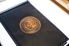 Το μουσείο των τροπαίων των φλυτζανιών και των βραβείων της ομάδας FC Βαρκελώνη του στρατόπεδου Nou Στοκ εικόνα με δικαίωμα ελεύθερης χρήσης