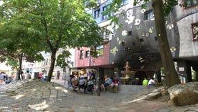 το μουσείο haus της Αυστρίας hundertwasser kunst μουσείο Βιέννη απόθεμα βίντεο
