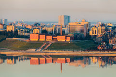 Το μουσείο Kazan στις ακτίνες της αυγής Στοκ εικόνες με δικαίωμα ελεύθερης χρήσης