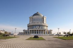Το μουσικό θέατρο στην πόλη του Γκρόζνυ, Τσετσενία στοκ φωτογραφία