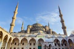 Μπλε μουσουλμανικό τέμενος (μουσουλμανικό τέμενος του Ahmed σουλτάνων), Ιστανμπούλ, Τουρκία Στοκ Εικόνα