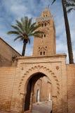 Το μουσουλμανικό τέμενος Koutoubia στο Μαρακές (Μαρόκο) Στοκ Εικόνες