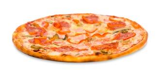 το μπέϊκον ξεφυτρώνει peperoni πίτσ Στοκ Εικόνα