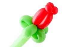 το μπαλόνι κόκκινο αυξήθη&kapp Στοκ Φωτογραφία