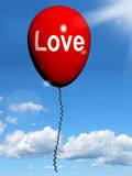 Το μπαλόνι αγάπης παρουσιάζει τη στοργή και στοργικά συναισθήματα διανυσματική απεικόνιση