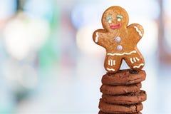 το μπισκότο Χριστουγέννων βρίσκει ότι οι εικόνες φαίνονται περισσότερο οι ίδιες σειρές χαρτοφυλακίων μου Στοκ Φωτογραφίες