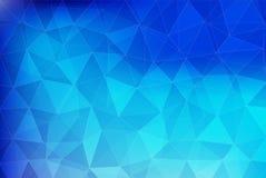 Το μπλε γεωμετρικό αφηρημένο υπόβαθρο τριγώνων, πρότυπο και διανυσματική απεικόνιση