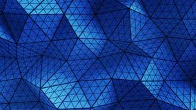 Το μπλε διαστρέβλωσε τη χαμηλή πολυ μορφή τρισδιάστατη δίνει την απεικόνιση απεικόνιση αποθεμάτων