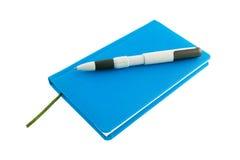 το μπλε ημερολόγιο Στοκ Εικόνες