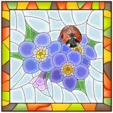 το μπλε λουλούδι ξεχνά την απεικόνιση εγώ μη διανυσματικός Στοκ Εικόνα