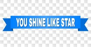 Το μπλε λωρίδα με ΣΑΣ ΛΑΜΠΕΙ ΟΠΩΣ τον τίτλο του STAR απεικόνιση αποθεμάτων