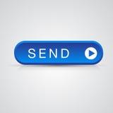 το μπλε μήνυμα ταχυδρομείου κουμπιών στέλνει το διάνυσμα απεικόνιση αποθεμάτων