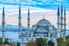 Το μπλε μουσουλμανικό τέμενος, Sultanahmet Camii, Ιστανμπούλ, Τουρκία στοκ φωτογραφία