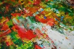 Το μπλε ρόδινο ασήμι τα κόκκινα σημεία χρωμάτων υποβάθρου χρωμάτων κρητιδογραφιών Στοκ Εικόνες