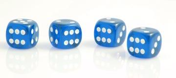Το μπλε χωρίζει σε τετράγωνα Στοκ Εικόνα