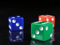 το μπλε 2 χωρίζει σε τετράγωνα το πράσινο κόκκινο Στοκ Εικόνες