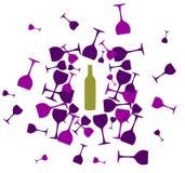 το μπουκάλι ανασκόπησης &si Στοκ εικόνες με δικαίωμα ελεύθερης χρήσης